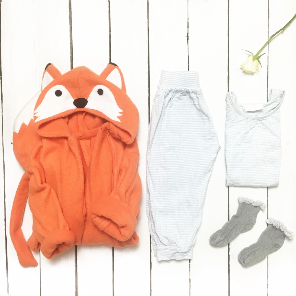 what my child wore kids fox dressing gown white company pyjamas