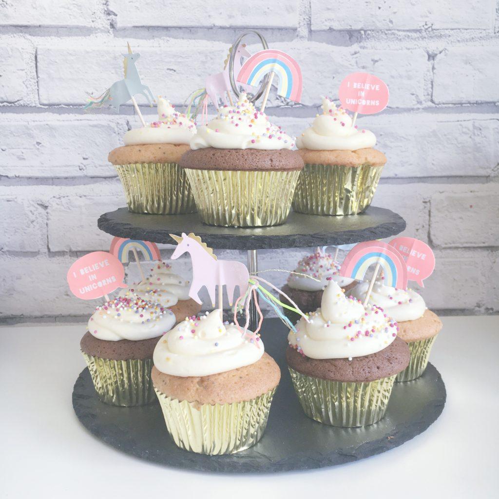 2nd unicorn birthday cupcakes