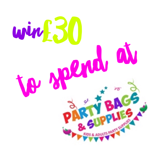 win £30 to spend at party bags and supplies