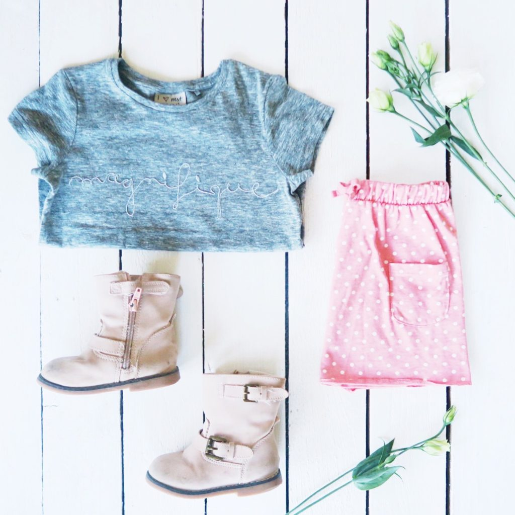 girls outfit flat lay weekend tot style