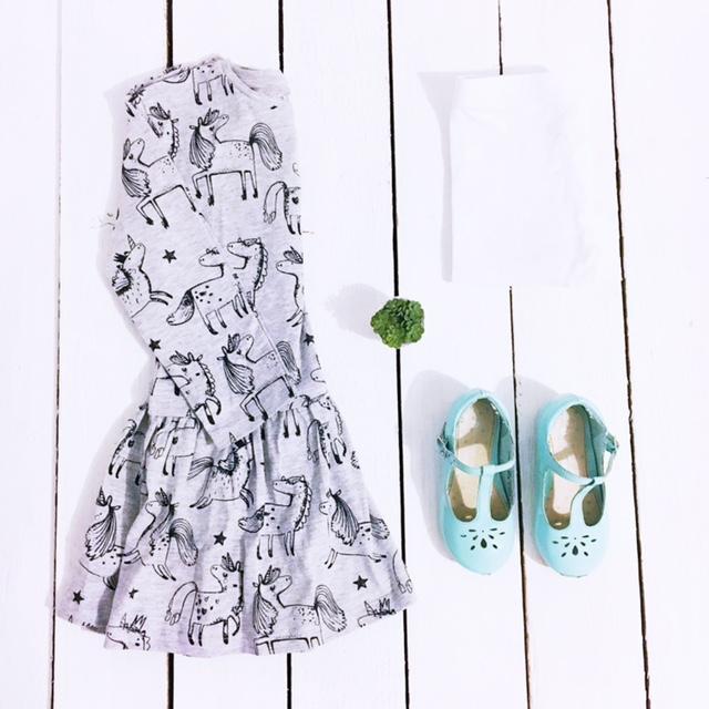 next-girls-outfit-flatlay-unicorn-dress
