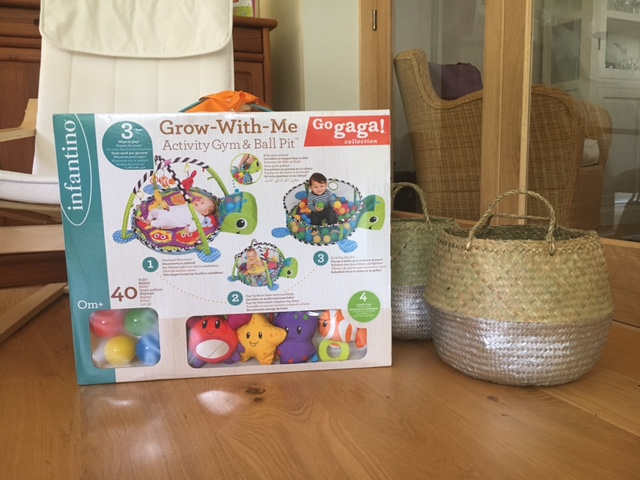 Infantino Grow with me Activity Gym & Ball Pit review box