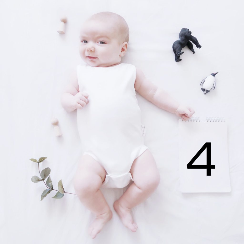 4 month baby update and routine