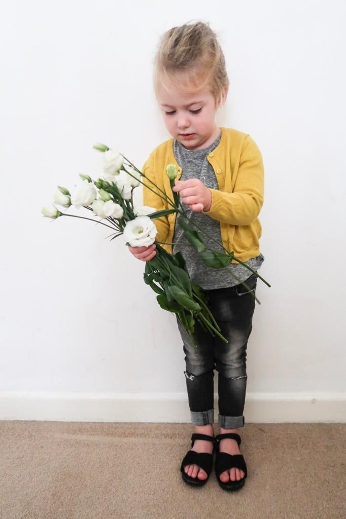 kids fashion ootd flowers