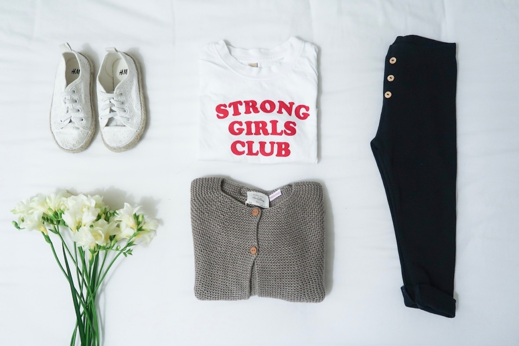 girls fashion strong girls club tee zara kids