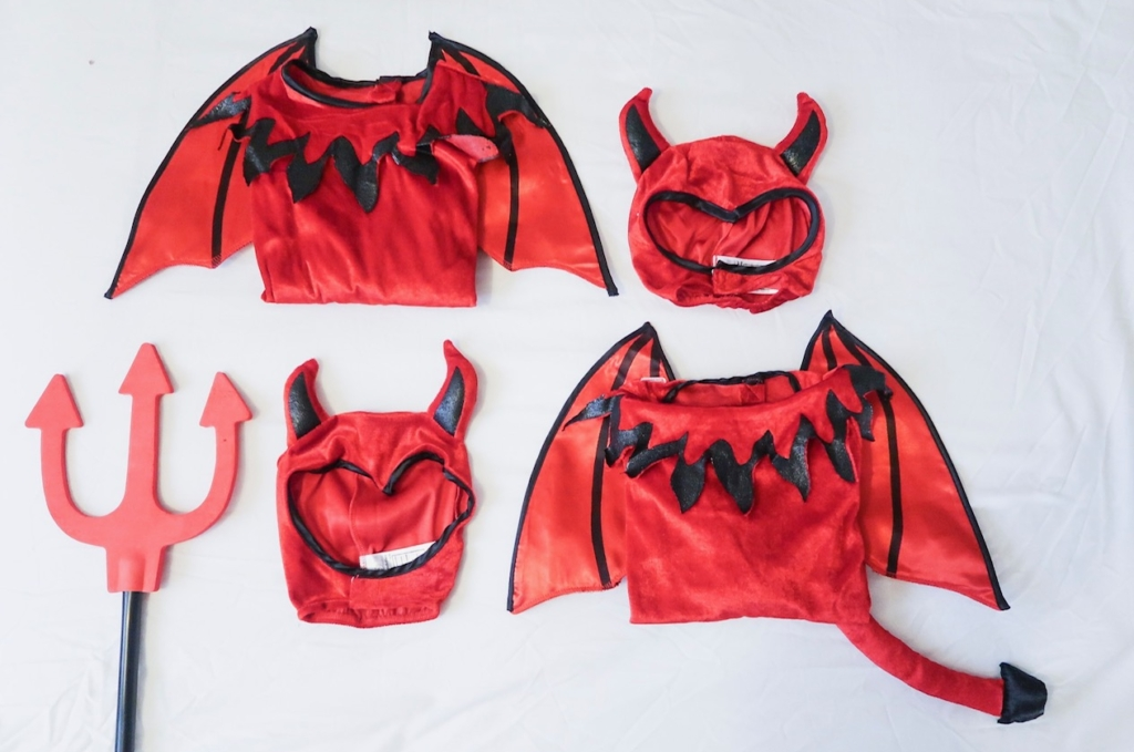 kids matchng devil halloween outfits