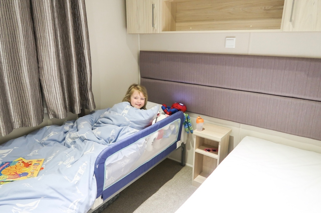haven littlesea caravan bedroom